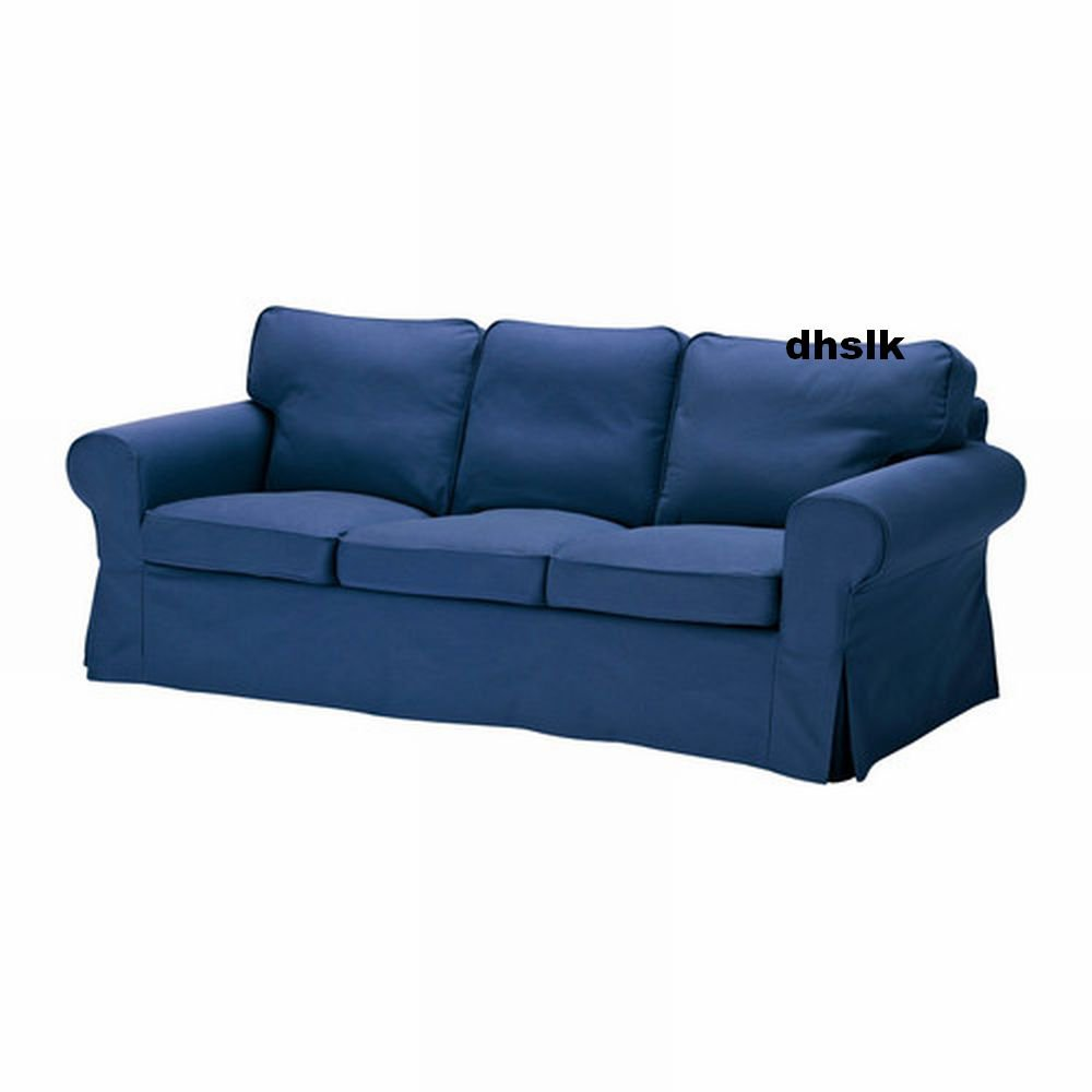 Ikea ektorp 3 seat sofa cover slipcover idemo blue bezug housse Cover for loveseat