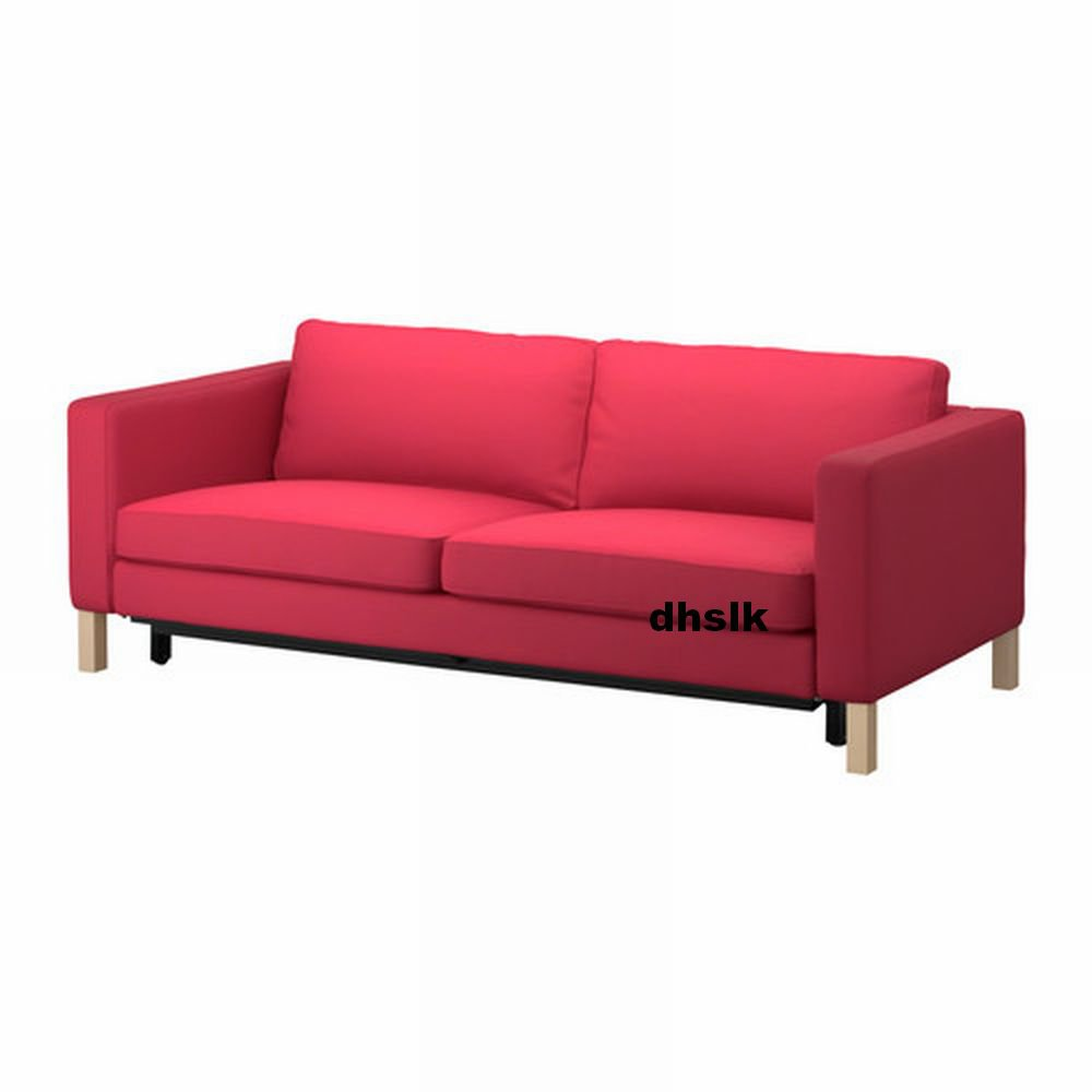 Ikea karlstad sofa bed slipcover sofabed cover sivik pink for Sofa bed cover