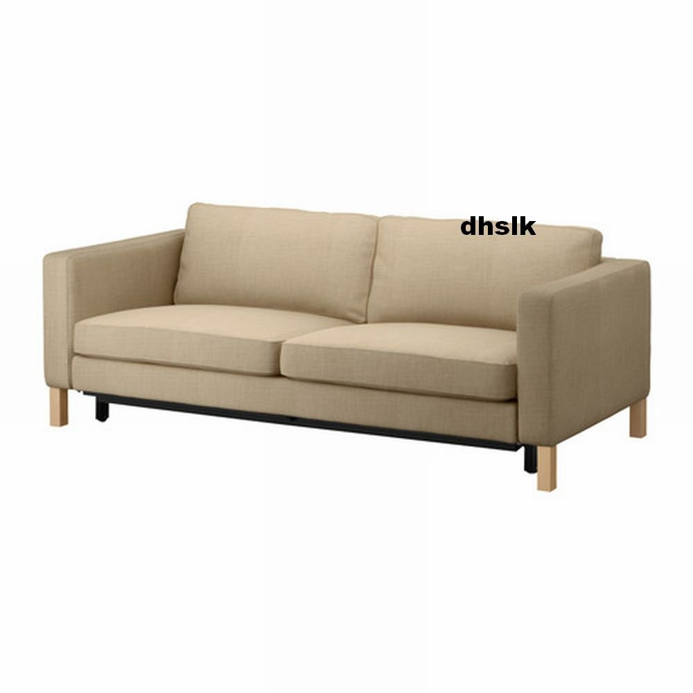 Ikea karlstad sofa bed slipcover sofabed cover lindo beige for Sofa bed cover