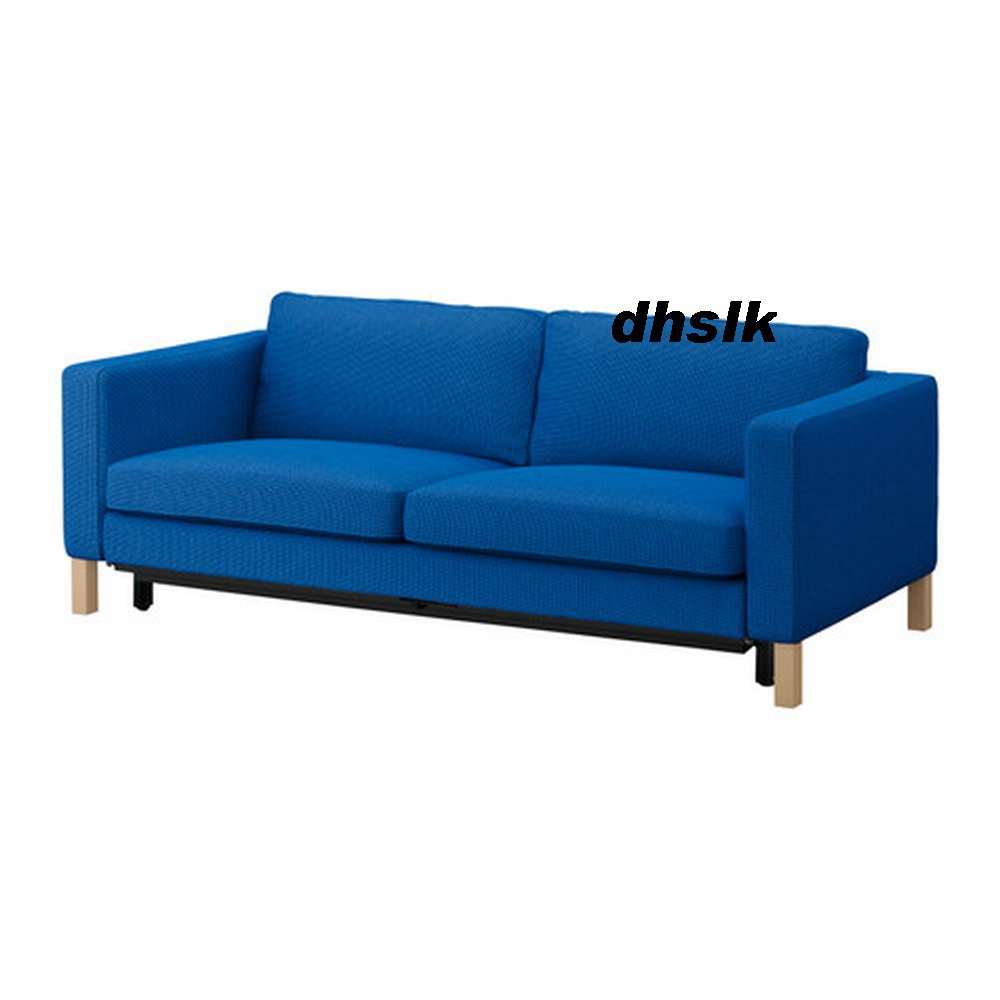 Ikea karlstad sofa bed sofabed slipcover cover korndal for Ikea blue bed