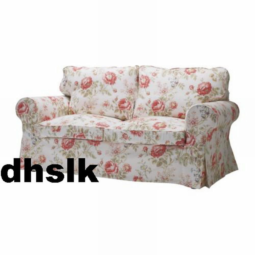 ikea ektorp 2 seat loveseat sofa cover slipcover byvik multi floral bezug housse. Black Bedroom Furniture Sets. Home Design Ideas