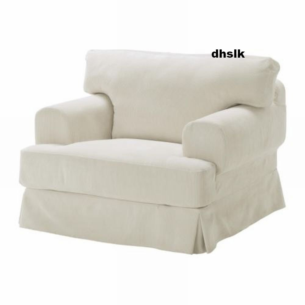 Ikea hov s hovas armchair chair slipcover cover graddo for Ikea white chair