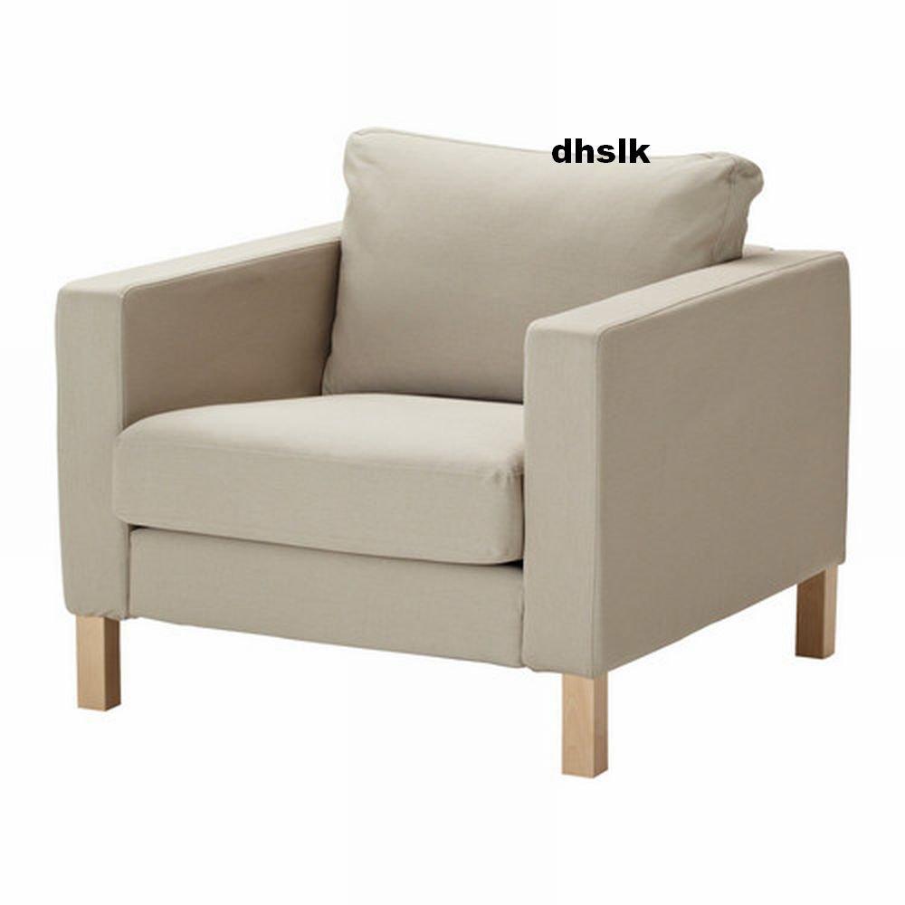 Ikea Karlstad Armchair Slipcover Chair Cover Sivik Beige