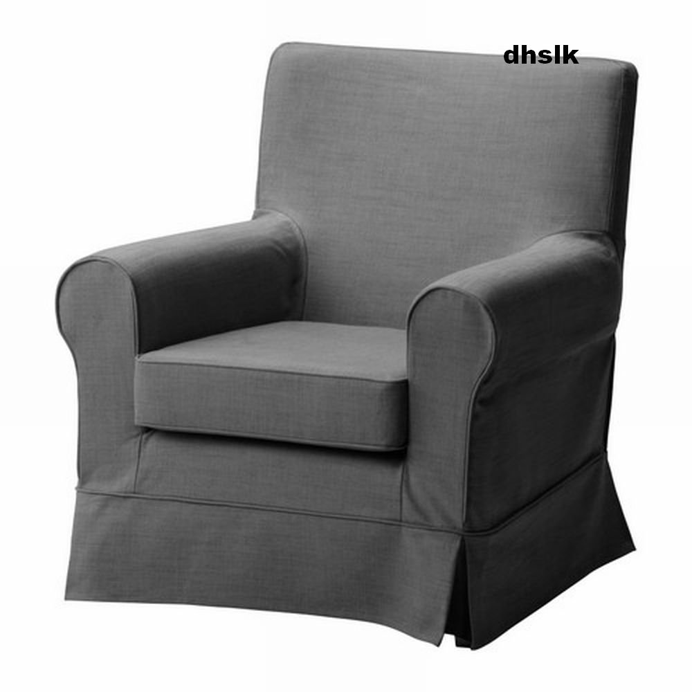 ikea ektorp jennylund armchair slipcover cover svanby gray grey last one. Black Bedroom Furniture Sets. Home Design Ideas
