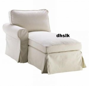Ikea ektorp left hand chaise longue slipcover cover svanby for Chaise longue jardin ikea