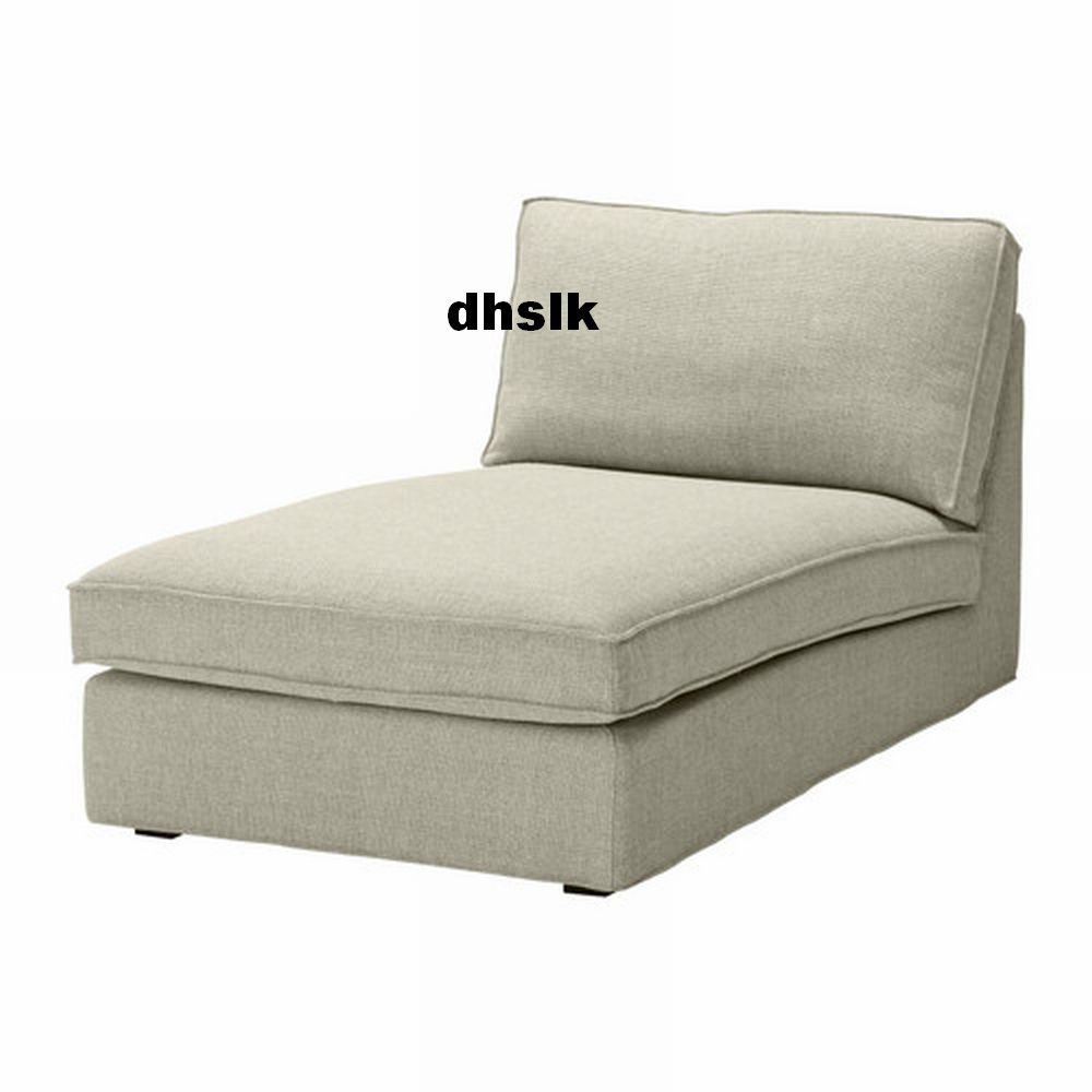 ikea kivik chaise slipcover cover teno light gray ten grey. Black Bedroom Furniture Sets. Home Design Ideas