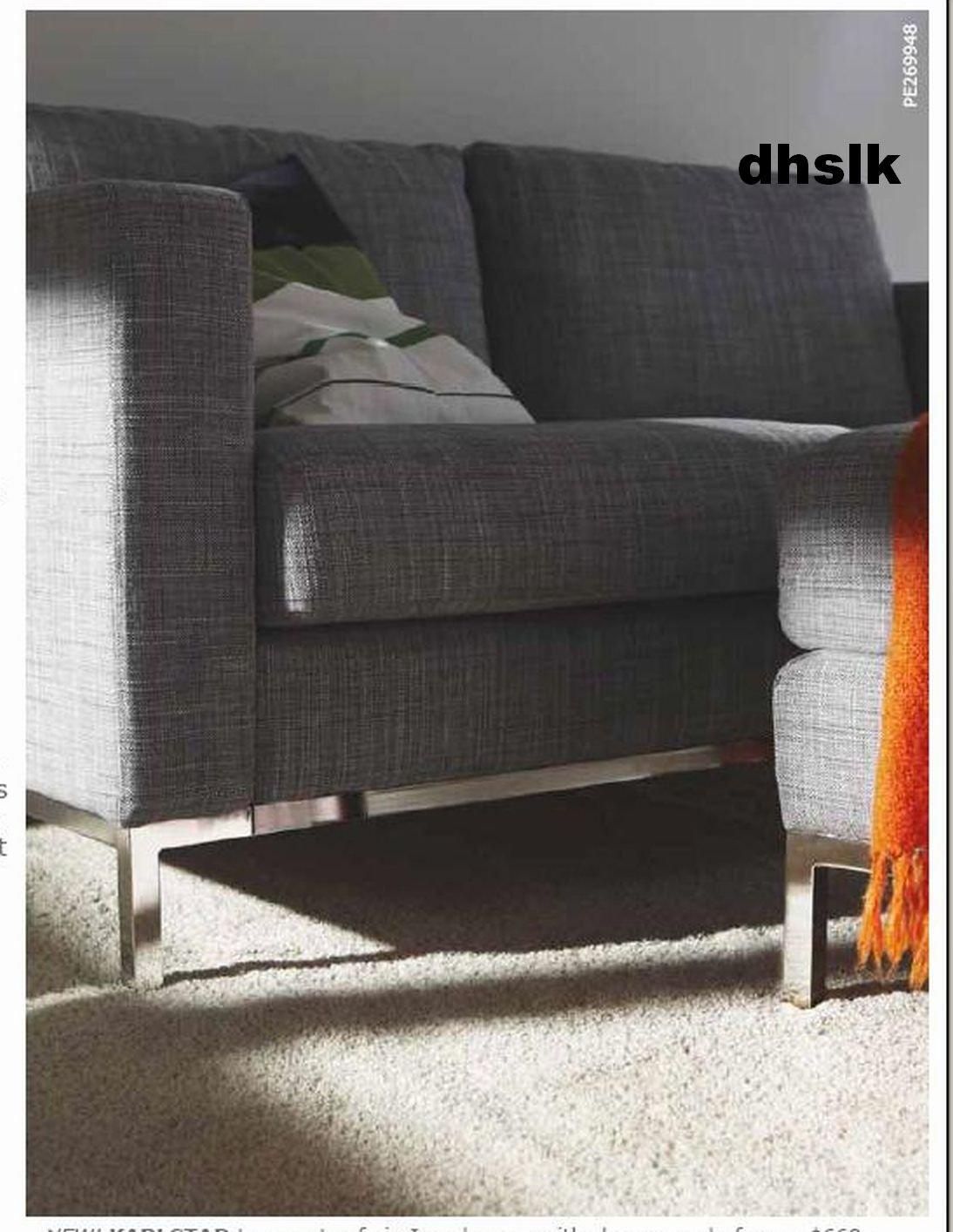 Ikea Karlstad 2 Seat Sofa Slipcover Loveseat Cover Isunda Gray Grey