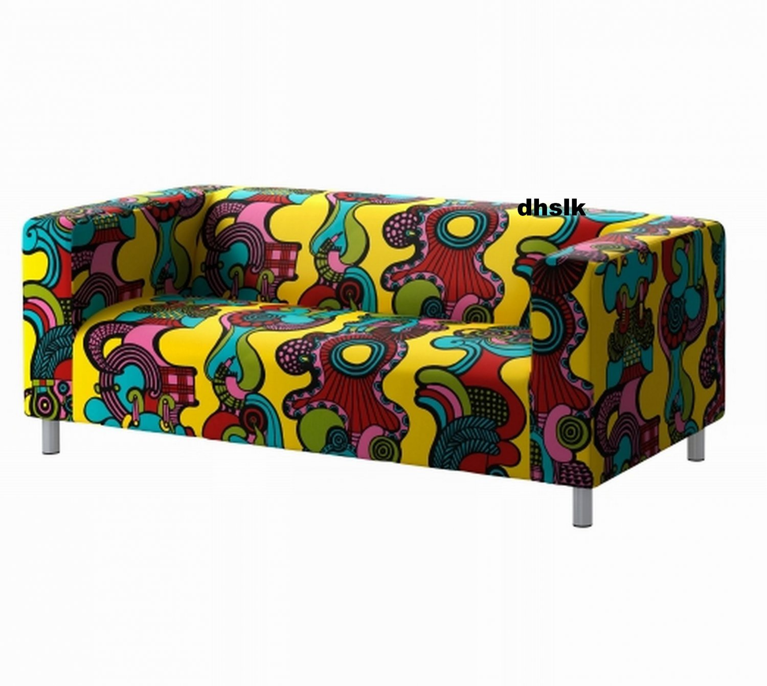 ikea klippan loveseat sofa slipcover cover mollaryd multicolor limited edition. Black Bedroom Furniture Sets. Home Design Ideas