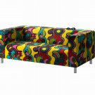 IKEA KLIPPAN Loveseat Sofa SLIPCOVER Cover MOLLARYD Multicolor LIMITED EDITION