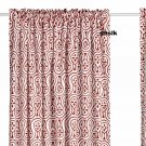 IKEA  LAPPLJUNG CURTAINS Drapes RED White Ethnic Print BOLD Fun LAST SET