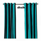 IKEA NÄTVIDE Natvide CURTAINS Drapes 2 Panels TURQUOISE Black VELVET Striped