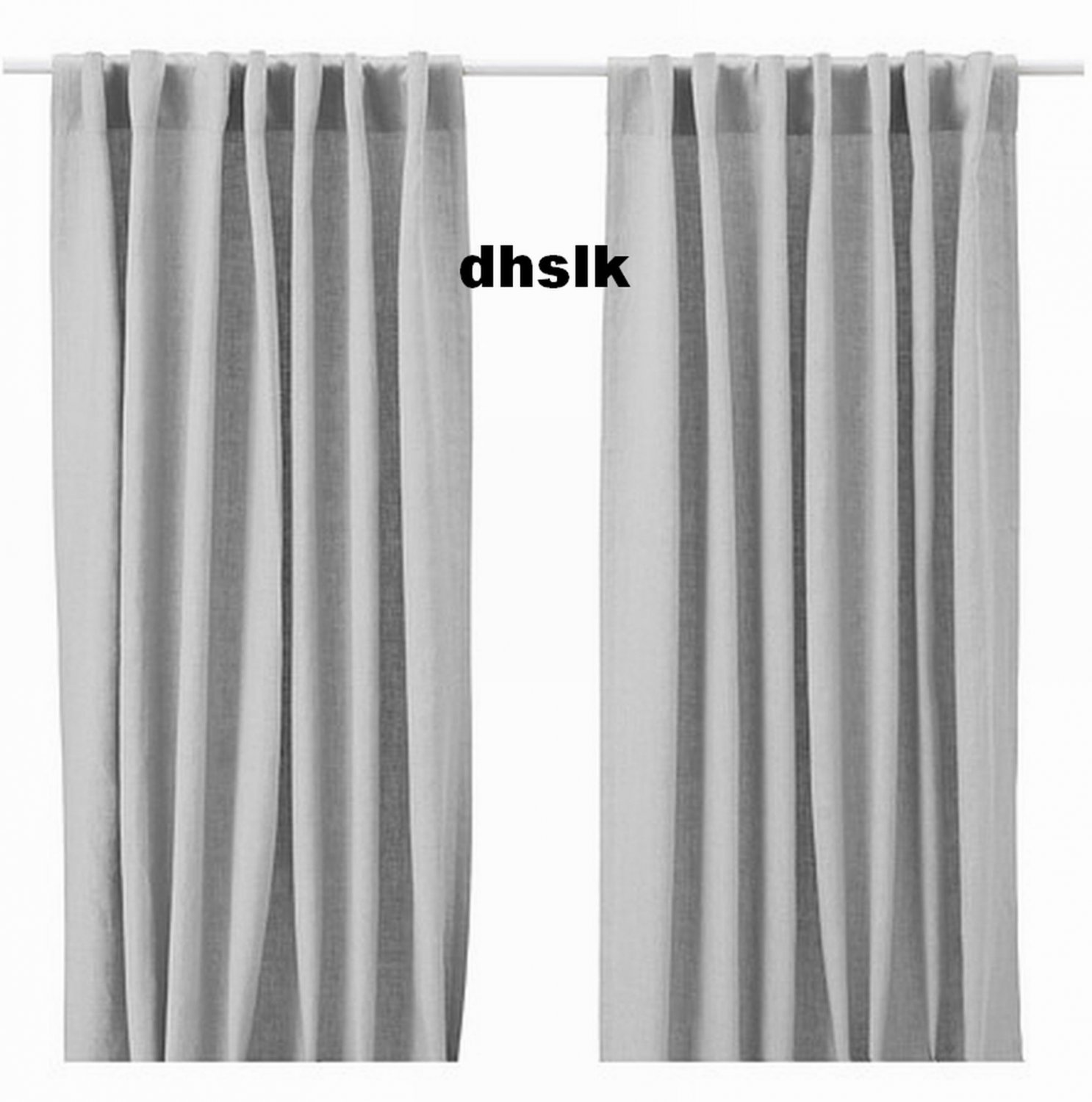 Light gray curtains - Ikea Aina Curtains Drapes Light Gray Grey Linen 98 Quot Long