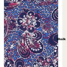 IKEA NATVIDE QUEEN Duvet COVER Pillowcases Set ETHNIC BATIK Paisley BLUE