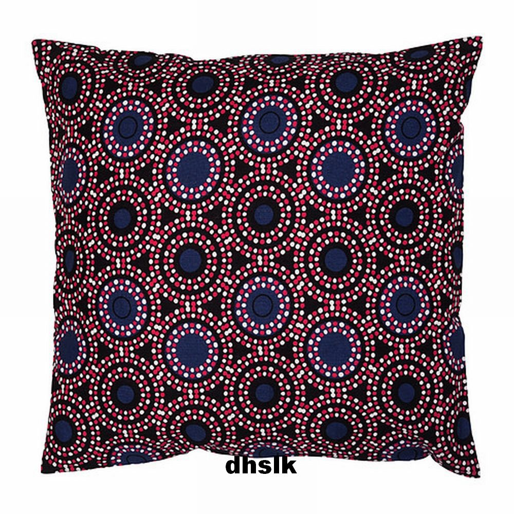 Ikea natvide pillow cover sham ethnic african motif black for Ikea uk cushion covers