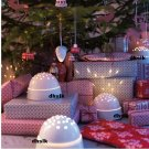 IKEA STRALA Star Projector WHITE Globe LED Xmas STRÅLA Decoration ROTARY Snow