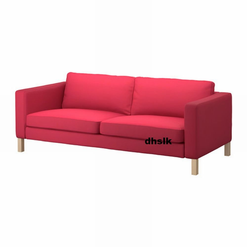 Ikea KARLSTAD Sofa SLIPCOVER 3 Seat Cover SIVIK PINK RED PinkRed Mid