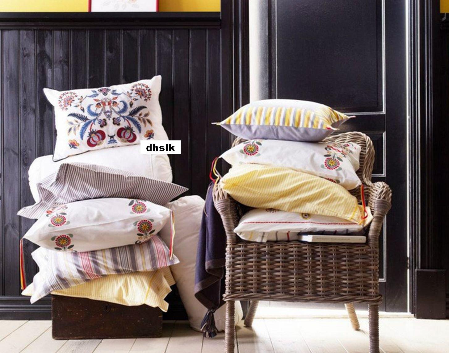 Ikea alvine spetsig embroidered pillow sham cushion cover for Euro shams ikea