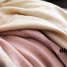 IKEA HENRIKA Afghan Throw BLANKET PINK Silk-Like LUSTROUS