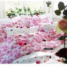 IKEA EMELINA ROS QUEEN Full Double Duvet COVER Set PINK ROSES Romantic