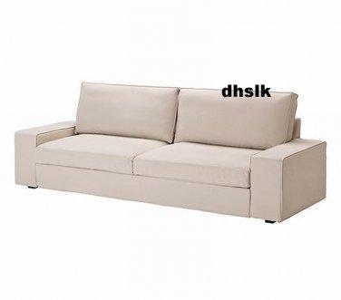 Ikea kivik sofa bed slipcover cover ingebo light beige for Housse futon ikea