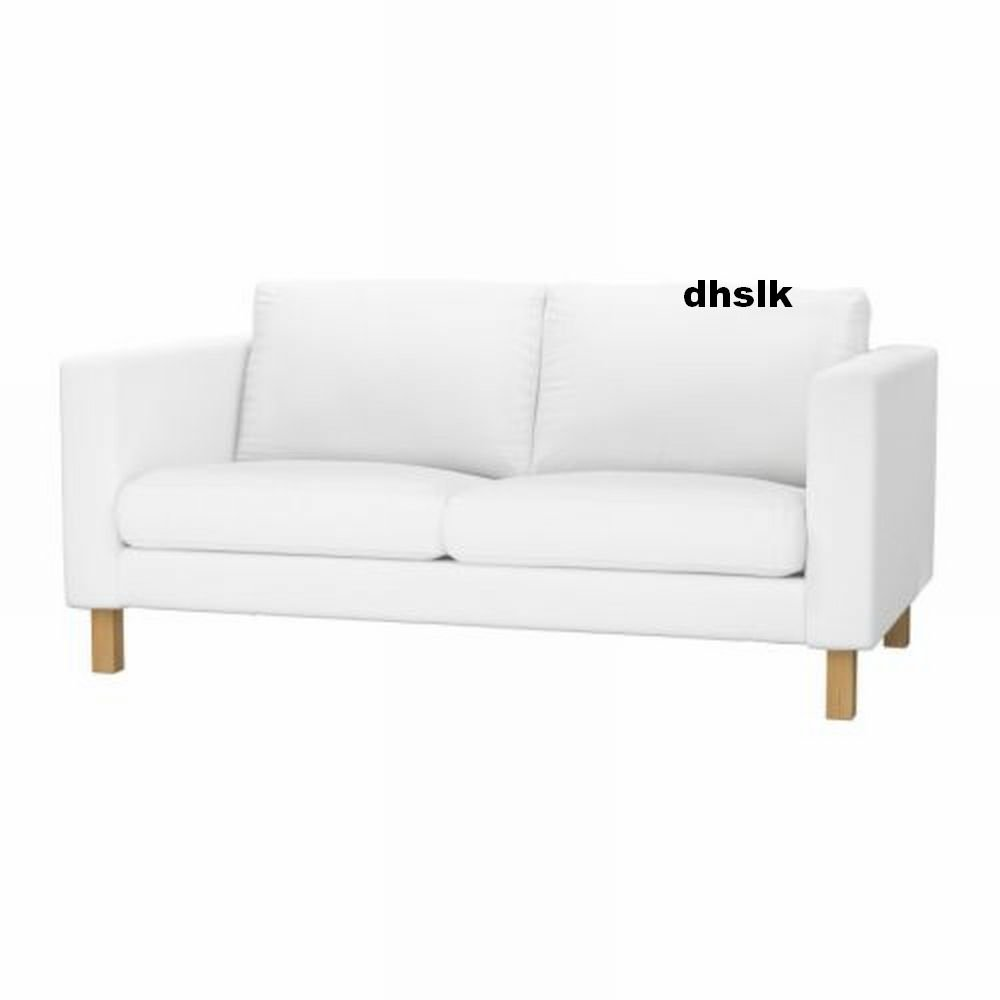 Ikea karlstad 2 seat loveseat sofa slipcover cover blekinge white White loveseat slipcovers