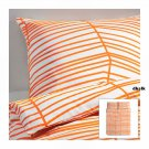 IKEA ODESTRAD Full QUEEN Duvet COVER Pillowcases Set ORANGE Lines ÖDESTRÄD