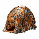 IKEA BASTIS Cat Dog Doll TENT Pet Bed Hiding Place CAMOUFLAGE Orange CAMO BASTIS