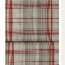 IKEA BENZY TWIN Single Duvet COVER Set RED Beige PLAID Yarn Dyed SOFT