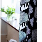IKEA KAJSAMIA CURTAINS Drapes 2 Panels BLACK Eyelet Header 98""