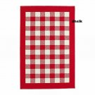 IKEA MILLINGE CHECKED RUG Area Throw Door Mat LOW PILE RED w WHITE Squares XMAS