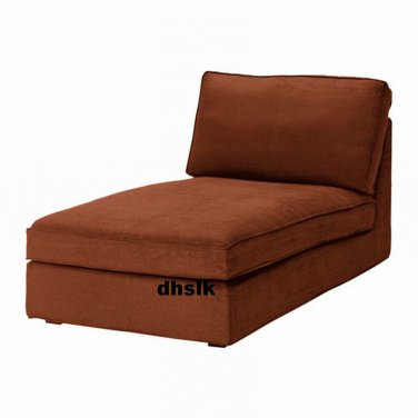 Ikea kivik chaise slipcover cover tullinge rust brown for Housse pour chaise ikea