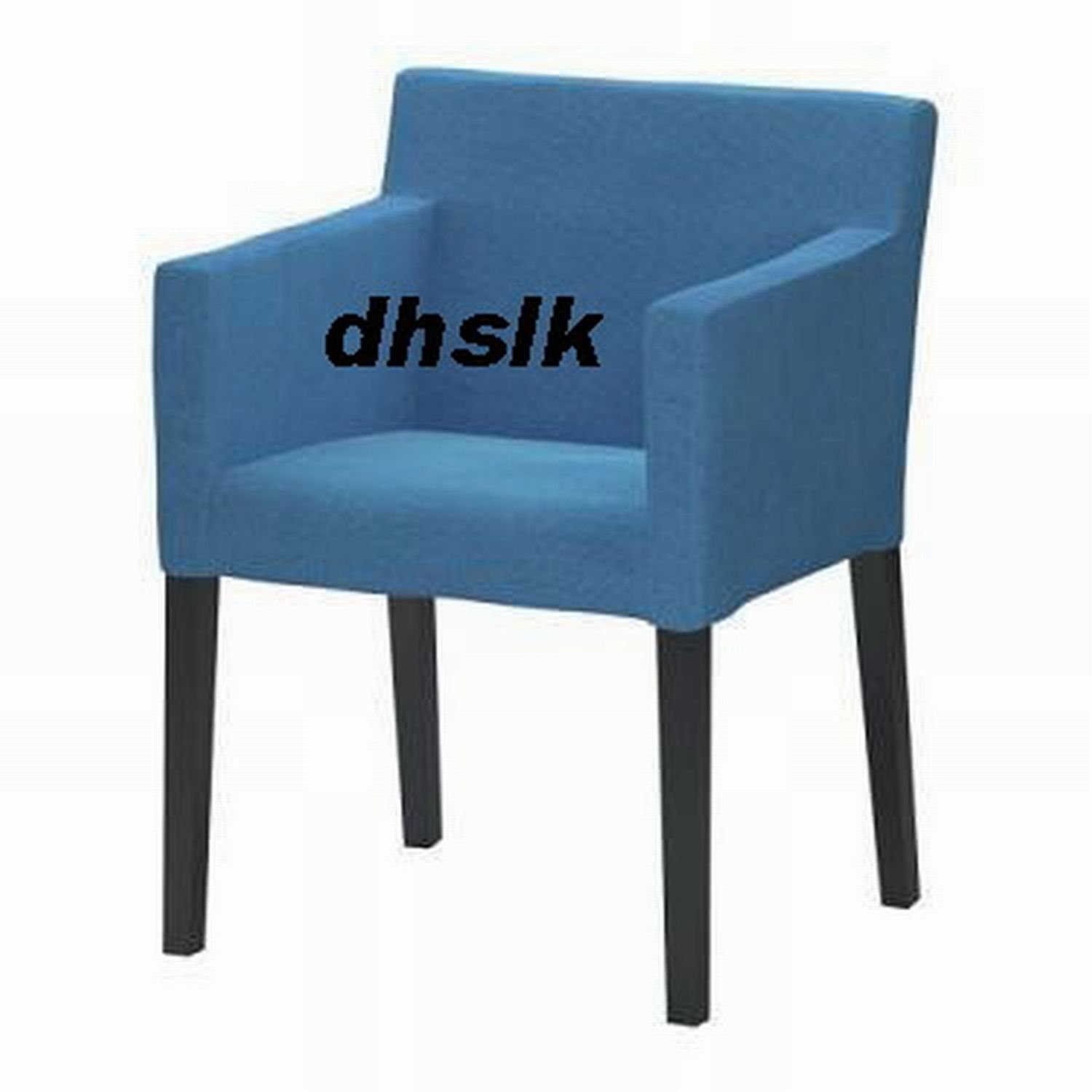 Ikea Nils Chair W Armrests Slipcover Cover Korndal Blue