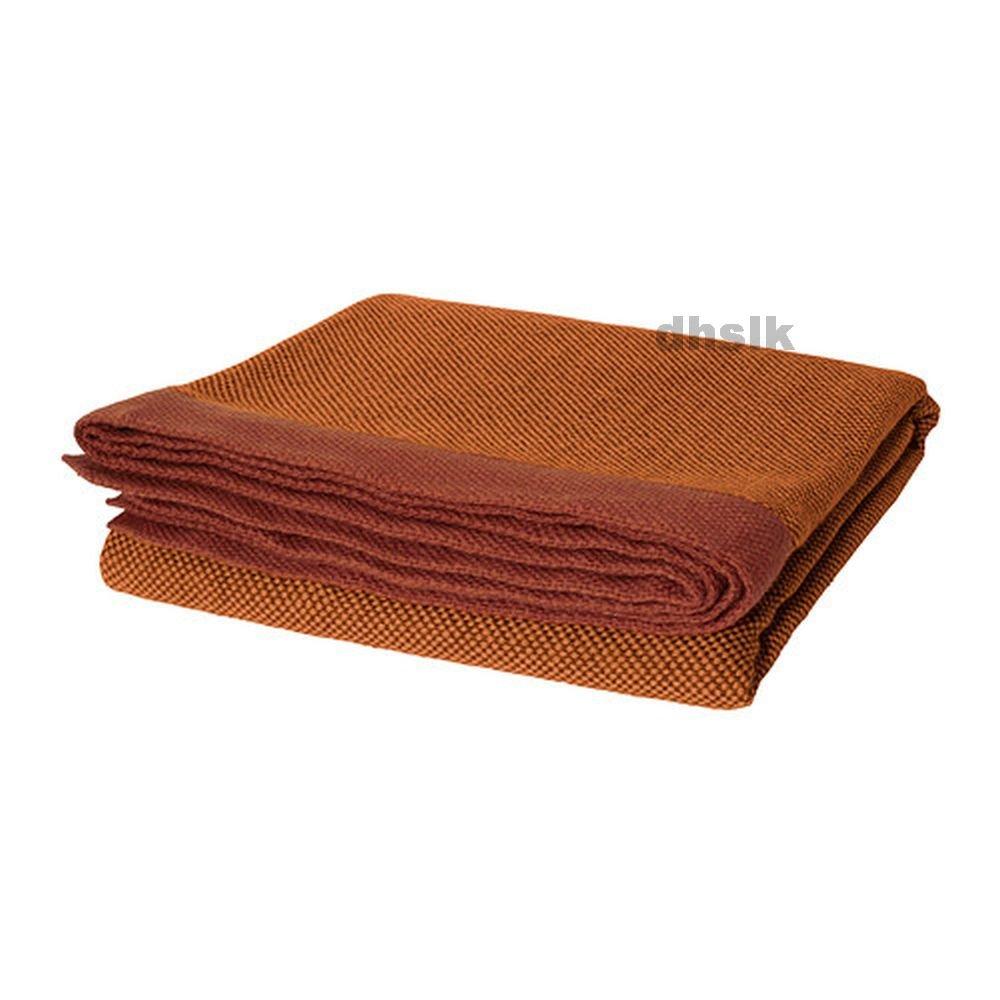 Ikea henrika afghan throw blanket orange silk like for Ikea in orange county