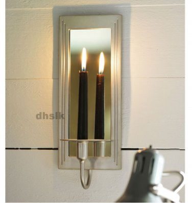 Silver Wall Sconces For Candles : IKEA GEMENSKAP WALL SCONCE Candle Holder SILVER COLOR Mirrored Candleholder Aluminum
