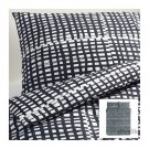 IKEA BJÖRNLOKA RUTA TWIN Single Duvet COVER Set BLACK White BJORNLOKA