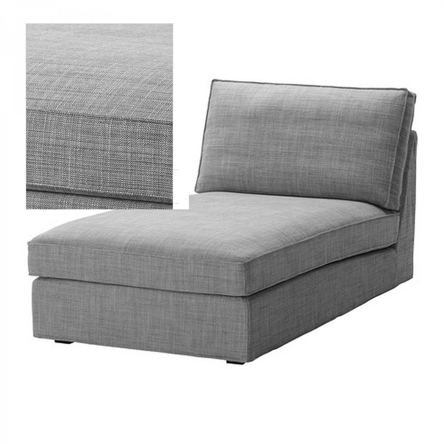 Ikea kivik chaise slipcover cover isunda gray grey bezug - Housse pour chaise ikea ...