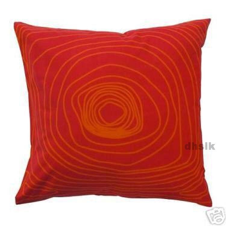 Ikea op art bibbi snurr red orange pillow cover euro sham for Euro shams ikea
