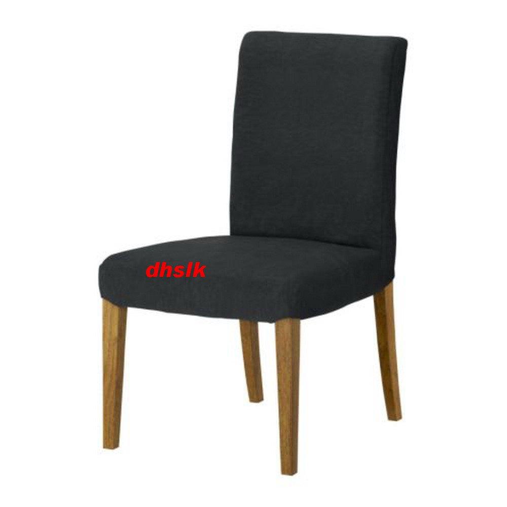 IKEA HENRIKSDAL Chair SLIPCOVER Cover 21 54cm SANNE GRAY Grey Black