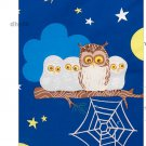 IKEA VANDRING UGGLA  TWIN Duvet COVER Pillowcases Set BLUE owl night LAST ONE