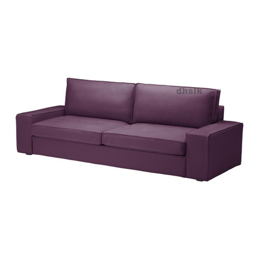 Ikea kivik sofa bed slipcover sofabed cover dansbo lilac purple Ikea divan beds
