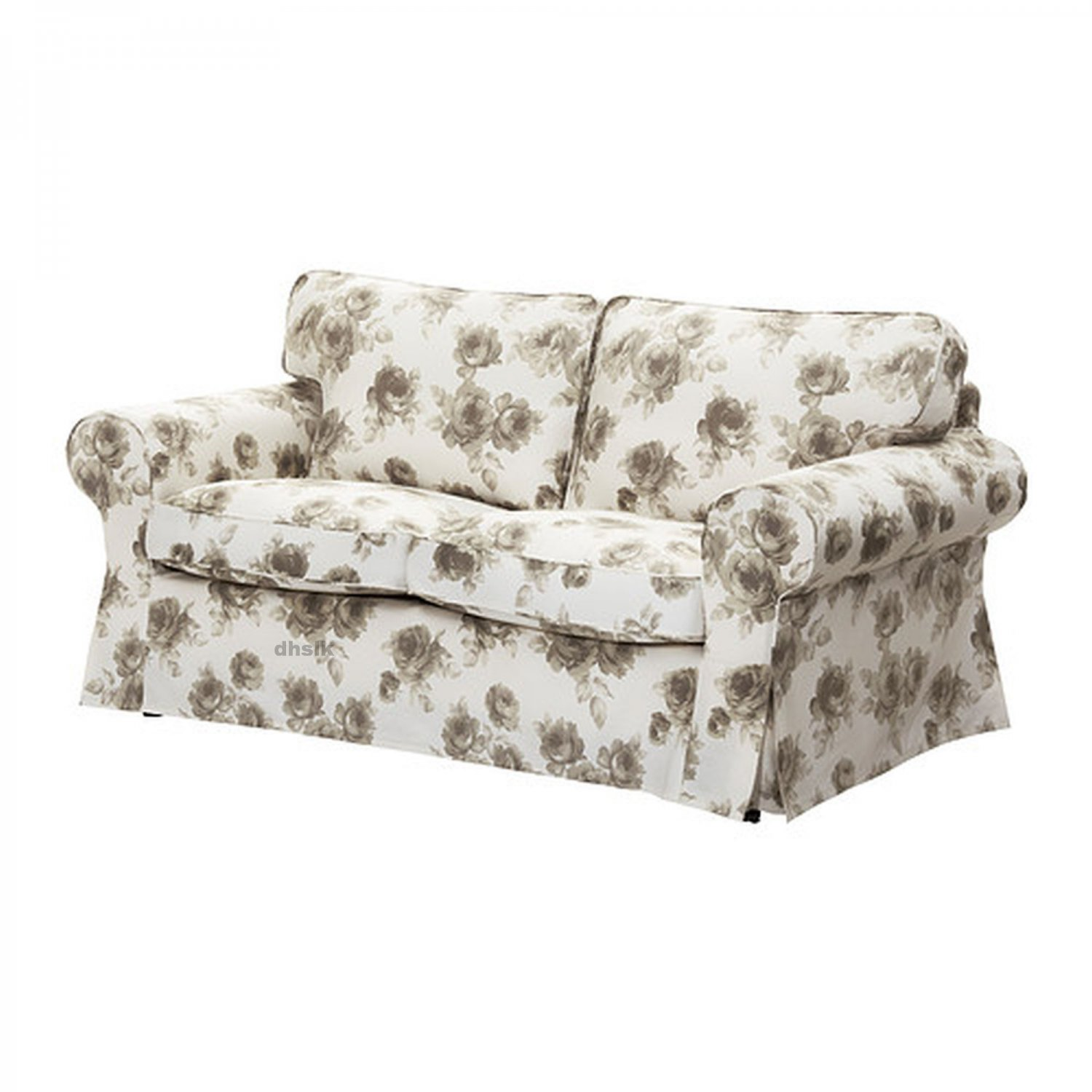 Ikea Ektorp 2 Seat Sofa Slipcover Loveseat Cover Norlida Beige White Floral Last Ones