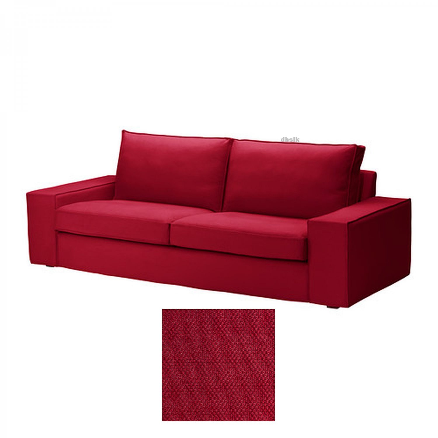 IKEA KIVIK 3 Seat Sofa SLIPCOVER Cover DANSBO MEDIUM RED