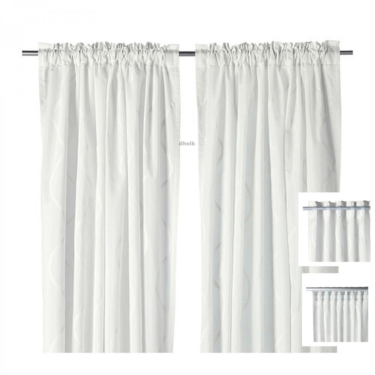 Ikea hillmari curtains drapes white - Cortinas de ninos ikea ...