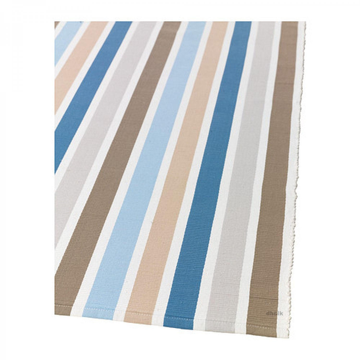 Blue And White Scandinavian Rug: IKEA EMMIE BLUE Beige White STRIPES Area Throw RUNNER RUG