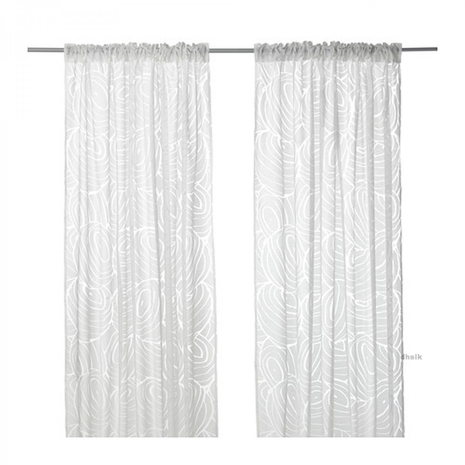 Ikea nordis curtains drapes white on white nature inspired for White curtains ikea