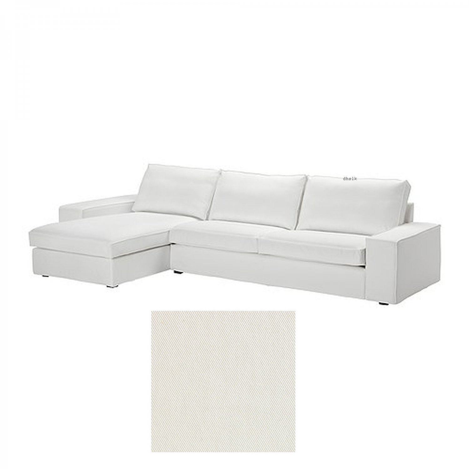 Ikea kivik 3 seat sofa w chaise longue slipcover cover for Chaise longue ikea uk