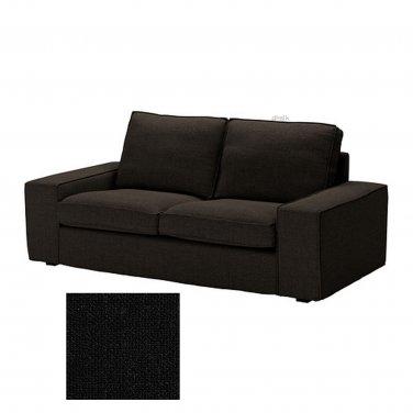 Ikea Kivik 2 Seat Loveseat Sofa Slipcover Cover Teno Black Ten