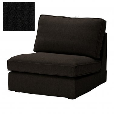 IKEA KIVIK 1 One Seat Sectional Chair SLIPCOVER Cover TENO BLACK Tenö