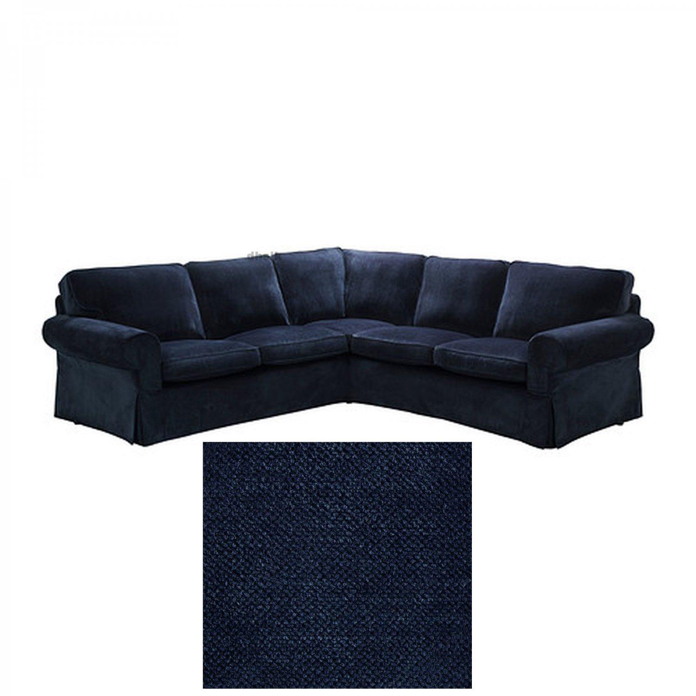 IKEA EKTORP 2 2 Corner Sofa and Bromma Footstool COVER Slipcover