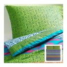 IKEA Lappljung KING Duvet COVER Pillowcases Set MULTICOLOR Green Blue Pink